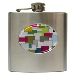 Decor Painting Design Texture Hip Flask (6 oz)