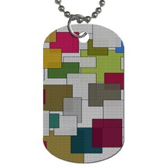 Decor Painting Design Texture Dog Tag (Two Sides)