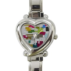 Decor Painting Design Texture Heart Italian Charm Watch