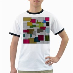 Decor Painting Design Texture Ringer T-Shirts