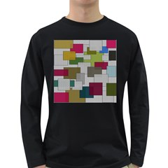 Decor Painting Design Texture Long Sleeve Dark T Shirts