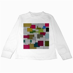 Decor Painting Design Texture Kids Long Sleeve T-Shirts