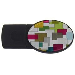 Decor Painting Design Texture USB Flash Drive Oval (4 GB)