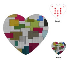 Decor Painting Design Texture Playing Cards (Heart)