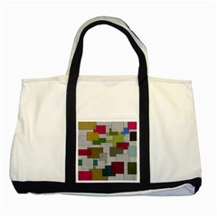Decor Painting Design Texture Two Tone Tote Bag