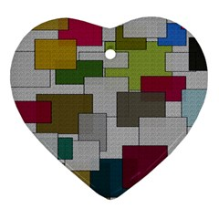 Decor Painting Design Texture Heart Ornament (two Sides)