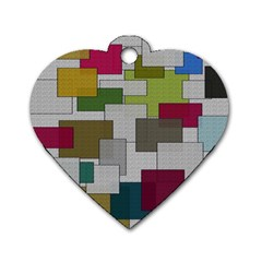 Decor Painting Design Texture Dog Tag Heart (One Side)