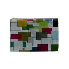 Decor Painting Design Texture Cosmetic Bag (medium)