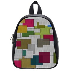 Decor Painting Design Texture School Bags (Small)