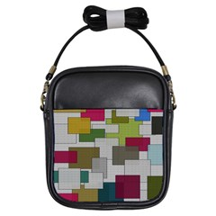 Decor Painting Design Texture Girls Sling Bags