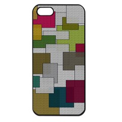 Decor Painting Design Texture Apple iPhone 5 Seamless Case (Black)