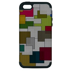 Decor Painting Design Texture Apple iPhone 5 Hardshell Case (PC+Silicone)