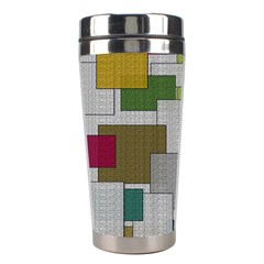 Decor Painting Design Texture Stainless Steel Travel Tumblers