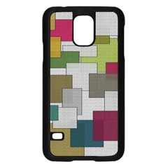 Decor Painting Design Texture Samsung Galaxy S5 Case (Black)