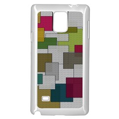 Decor Painting Design Texture Samsung Galaxy Note 4 Case (White)