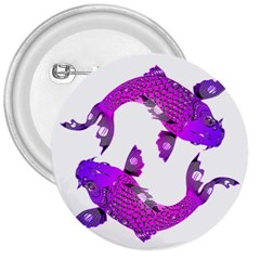 Koi Carp Fish Water Japanese Pond 3  Buttons