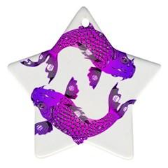 Koi Carp Fish Water Japanese Pond Ornament (star)
