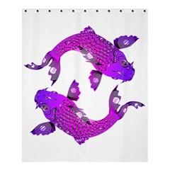 Koi Carp Fish Water Japanese Pond Shower Curtain 60  x 72  (Medium)