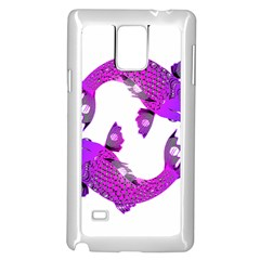 Koi Carp Fish Water Japanese Pond Samsung Galaxy Note 4 Case (White)