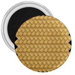 Wood Illustrator Yellow Brown 3  Magnets