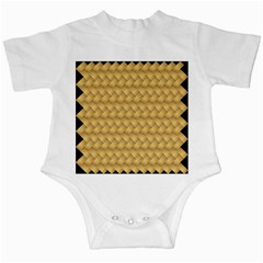 Wood Illustrator Yellow Brown Infant Creepers