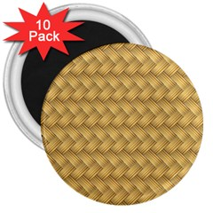 Wood Illustrator Yellow Brown 3  Magnets (10 Pack)