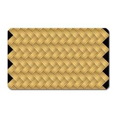 Wood Illustrator Yellow Brown Magnet (Rectangular)
