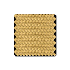 Wood Illustrator Yellow Brown Square Magnet