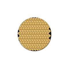 Wood Illustrator Yellow Brown Golf Ball Marker (4 Pack)