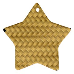 Wood Illustrator Yellow Brown Star Ornament (Two Sides)