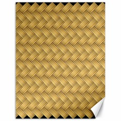 Wood Illustrator Yellow Brown Canvas 18  x 24