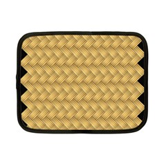 Wood Illustrator Yellow Brown Netbook Case (small)