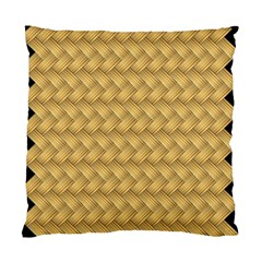 Wood Illustrator Yellow Brown Standard Cushion Case (One Side)