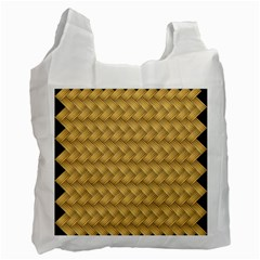 Wood Illustrator Yellow Brown Recycle Bag (one Side)