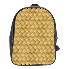 Wood Illustrator Yellow Brown School Bags(Large)