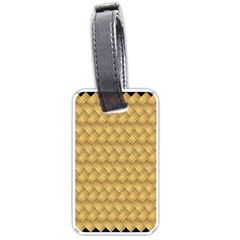 Wood Illustrator Yellow Brown Luggage Tags (One Side)