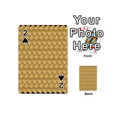 Wood Illustrator Yellow Brown Playing Cards 54 (Mini)