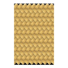 Wood Illustrator Yellow Brown Shower Curtain 48  X 72  (small)