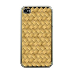Wood Illustrator Yellow Brown Apple iPhone 4 Case (Clear)