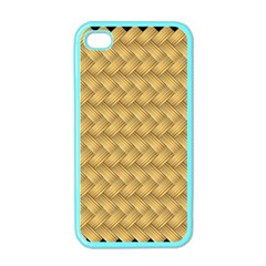 Wood Illustrator Yellow Brown Apple Iphone 4 Case (color)