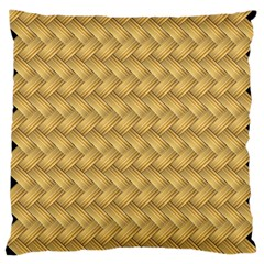 Wood Illustrator Yellow Brown Large Cushion Case (one Side)