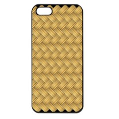 Wood Illustrator Yellow Brown Apple iPhone 5 Seamless Case (Black)