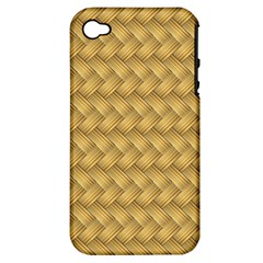 Wood Illustrator Yellow Brown Apple Iphone 4/4s Hardshell Case (pc+silicone)