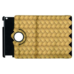Wood Illustrator Yellow Brown Apple Ipad 3/4 Flip 360 Case