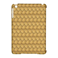 Wood Illustrator Yellow Brown Apple iPad Mini Hardshell Case (Compatible with Smart Cover)