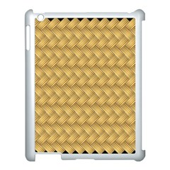 Wood Illustrator Yellow Brown Apple iPad 3/4 Case (White)