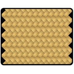 Wood Illustrator Yellow Brown Double Sided Fleece Blanket (medium)