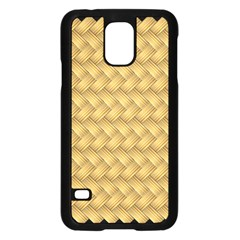 Wood Illustrator Yellow Brown Samsung Galaxy S5 Case (Black)
