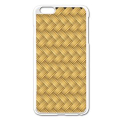 Wood Illustrator Yellow Brown Apple Iphone 6 Plus/6s Plus Enamel White Case