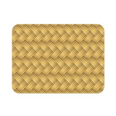 Wood Illustrator Yellow Brown Double Sided Flano Blanket (Mini)
